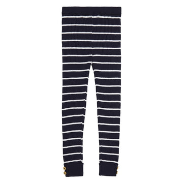 Miann & Co - NAVY STRIPE RIB LEGGING