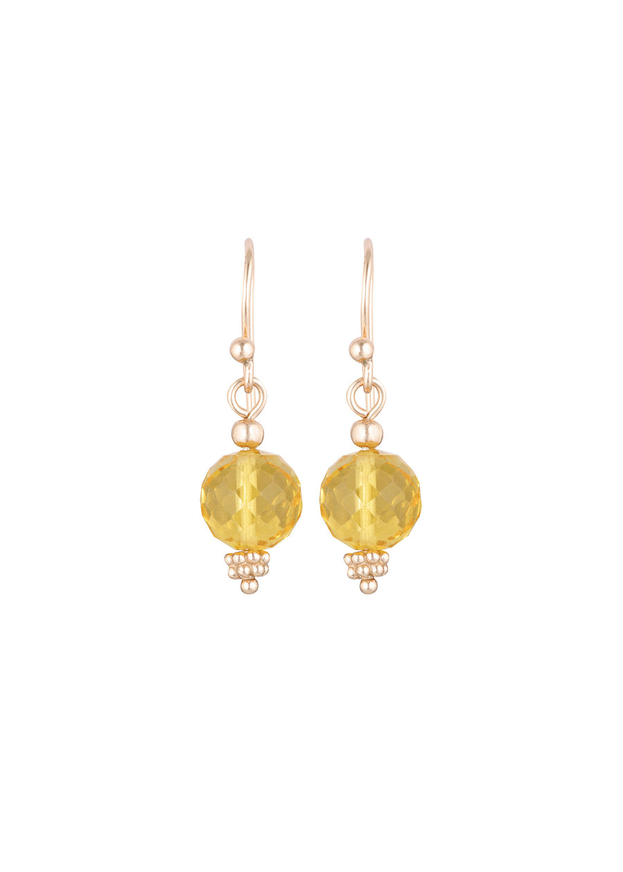 Nicole Fendel - Divina Drop Earrings - Stone: Citrine