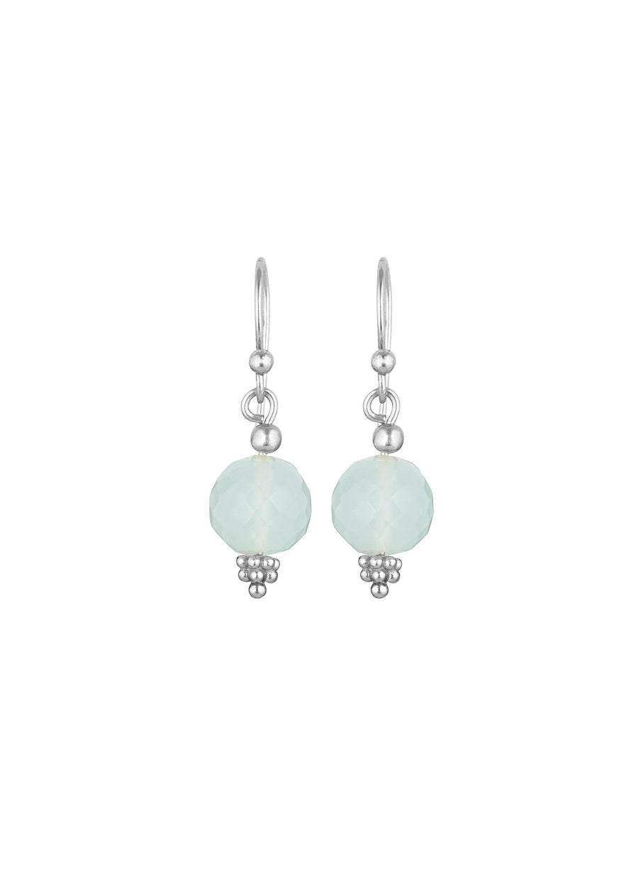 Nicole Fendel - Divina Drop Earrings - Stone: Mint Chalcedony