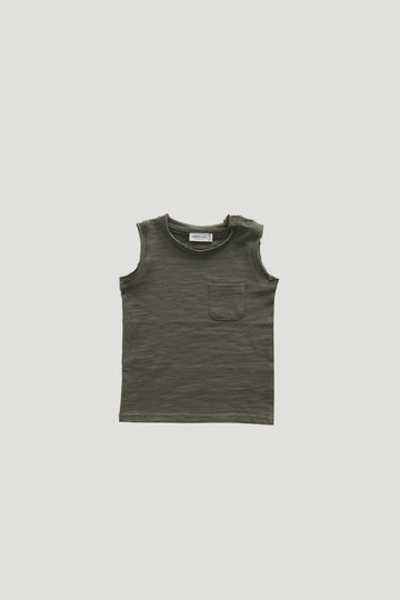Jamie Kay - Slub Cotton River Tank - Hunter