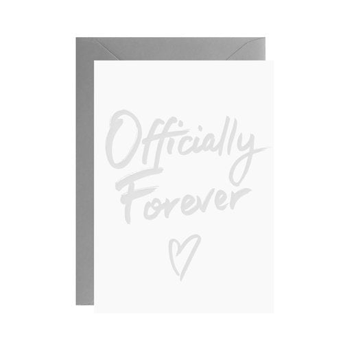 Galina Dixon - Officially Forever - Mini Letterpress Card