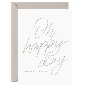 Galina Dixon - Oh happy day. Congratulations. – Letterpress Card
