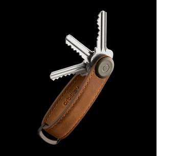 Orbitkey - Key Organiser Crazy Horse Leather Chestnut Brown/Brown