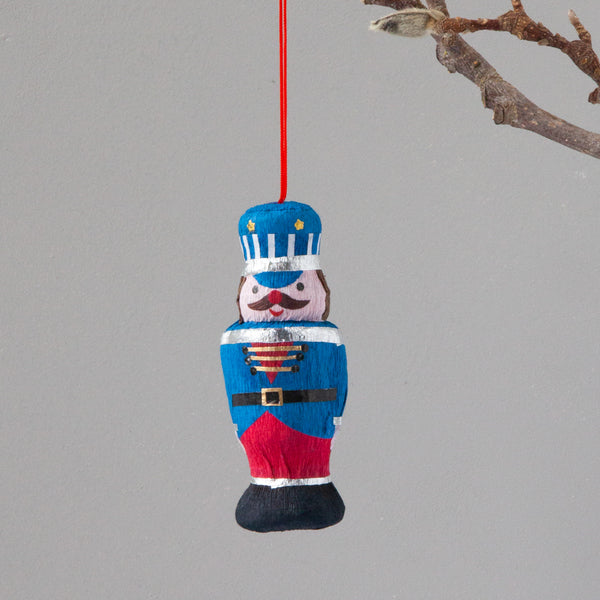 Down To The Woods - Paper Decoration Nut Cracker Blue
