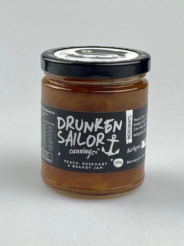 Drunken Sailor - Peach, Rosemary & Brandy Jam 290g