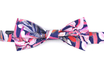 Peggy & Finn - Protea Navy Fabric Bow tie