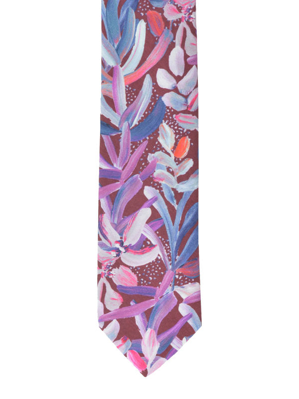 Peggy and Finn -  Protea Burgundy Cotton Tie