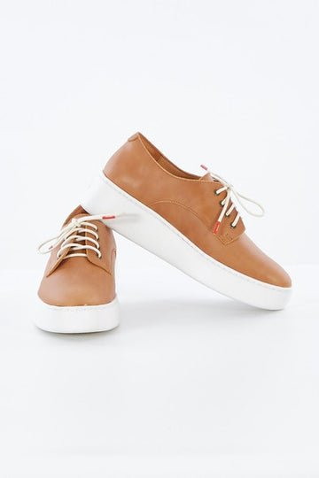 Rollie - Derby City Laceup - Tan Burnish