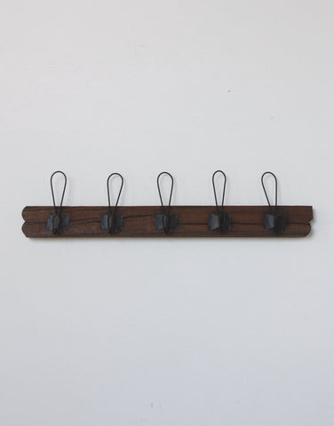 Saarde Set of Hooks on Rustic Timber Backing