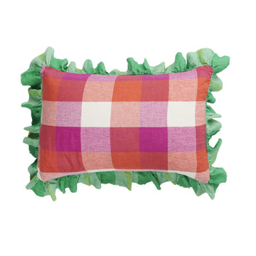 Society of Wanderers - Sherbet Check Full Ruffle Pillowcase Set - Standard - PREORDER