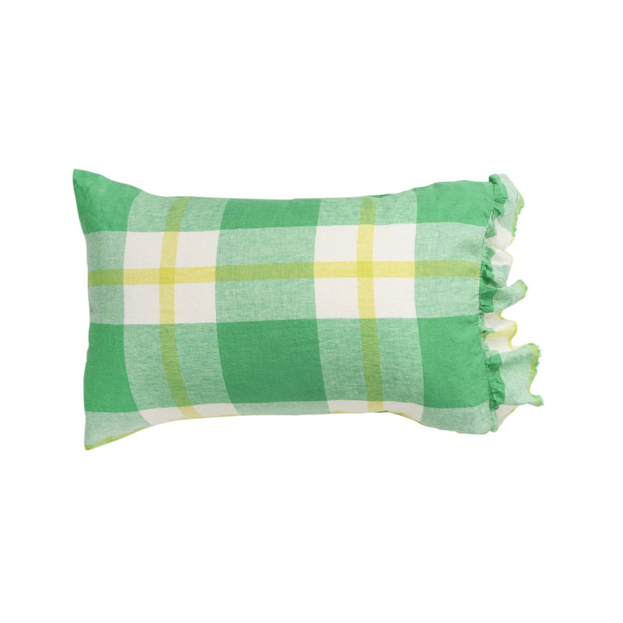 Society of Wanderers - Zest Check Pillowcase Set - Standard Ruffle - PREORDER