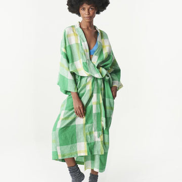 Society of Wanderers - Zest Check Robe - PREORDER