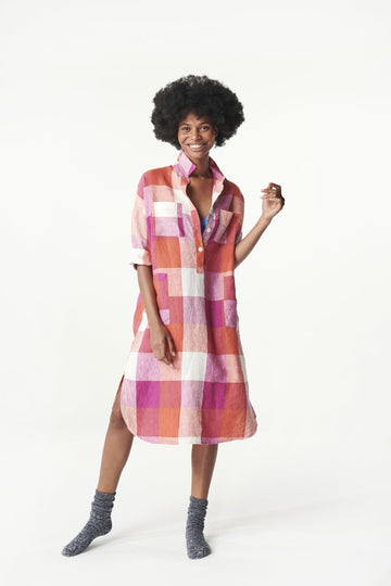 Society of Wanderers - Sherbet Check Dress - PREORDER