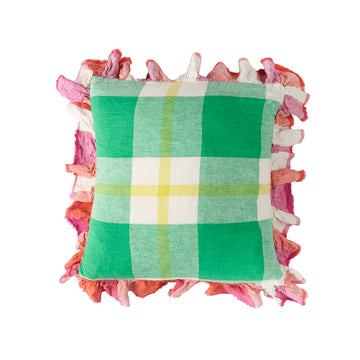 Society of Wanderers - Zest Check Full Ruffle Pillowcase Set - Euro - PREORDER
