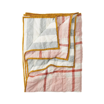 Society of Wanderers - Double Sided Quilt - King - Floss/Fog Stripe