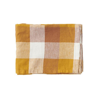 Society of Wanderers - Biscuit Check Linen Napery - Tablecloth
