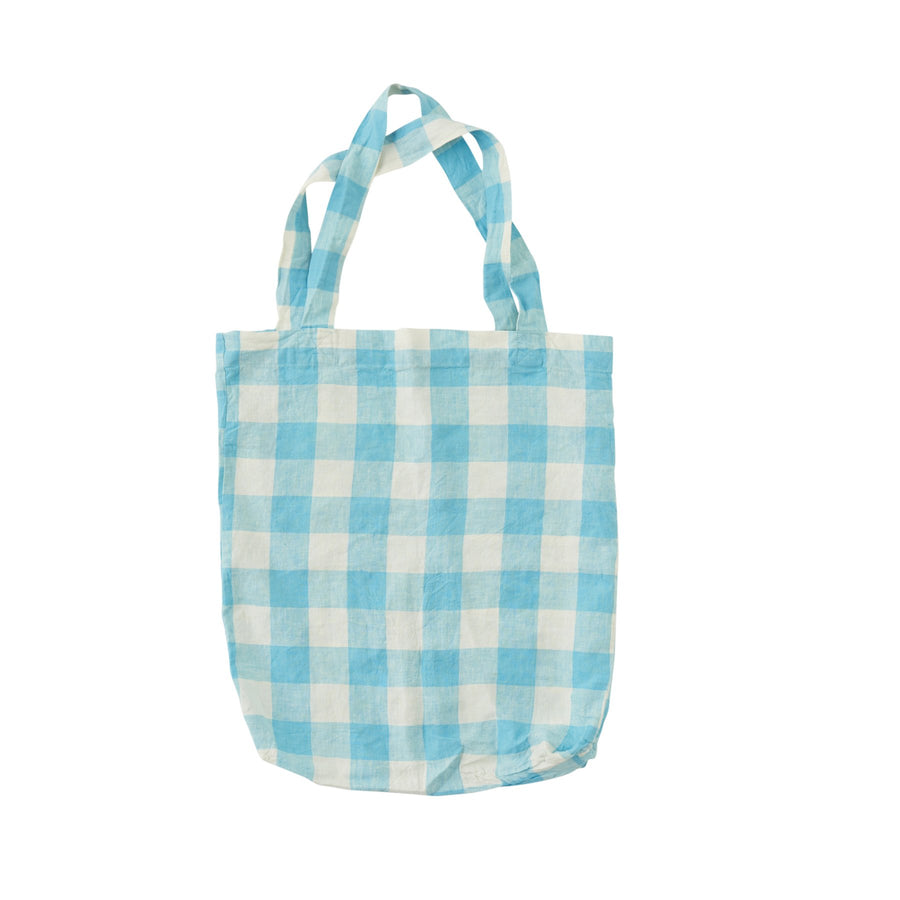 Society Of Wanderers - Tote - Ocean Blue Gingham