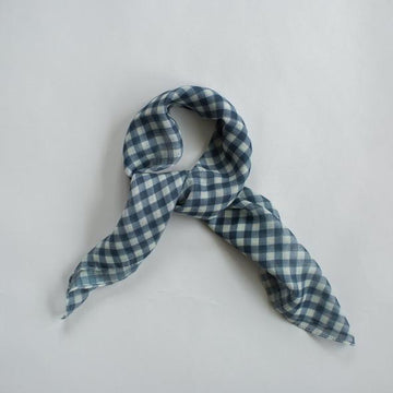Sophie - GINGHAM MINI SCARF NAVY