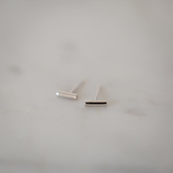 Sophie - Mini Bar Studs - Sterling Silver