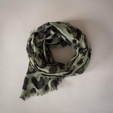 Sophie - Wild Maxi Scarf - Olive