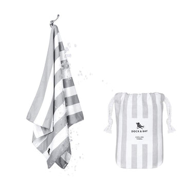 Dock & Bay - QUICK COOL TOWEL - COOLING TOWEL - GOA GREY