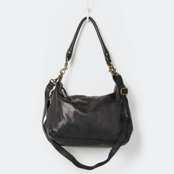 Juju & Co - Black Small Leather Slouchy