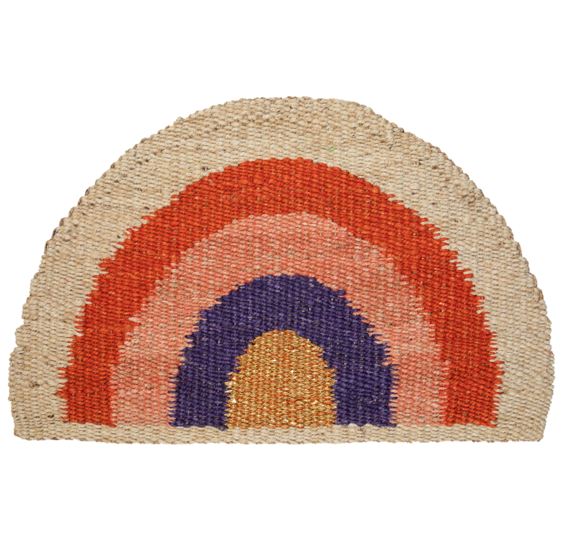 Langdon - Rainbow Doormat - Red/Coral/Purple/Natural/Gold