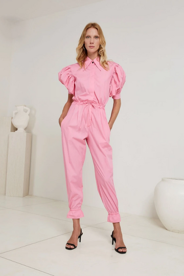 S/W/F - Puff Sleeve Jumpsuit - Chateau
