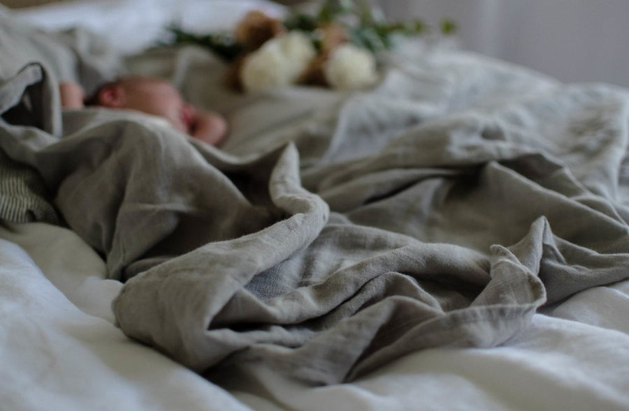 Pop Ya Tot - Essentials Range Swaddle - Silver Lining