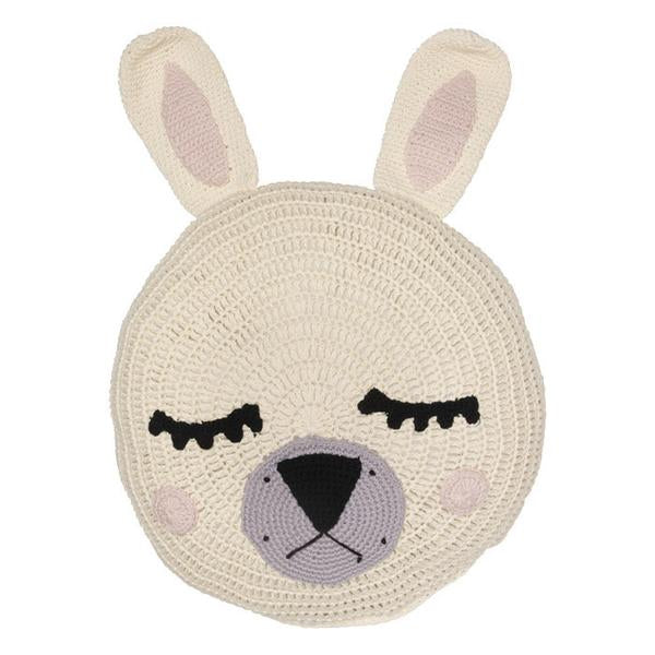 Miann & Co - Cream Sleepy Bunny Snuggle Cushion