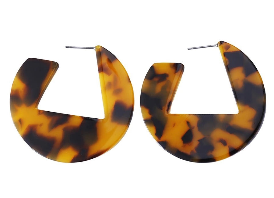 Greenwood Designs - Tortoiseshell Earrings - Hoop