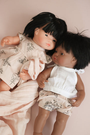 Burrow & Be - Blush Meadow Bloomers for 38cm Doll