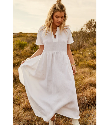 Bohemian Traders - CLASSIQUE NAUTIQUE DRESS IN WHITE