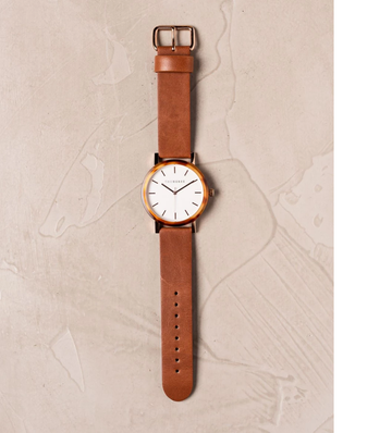 The Horse - The Resin: Caramel Treacle Case / White Dial / Rose Gold Indexing / Tan Leather