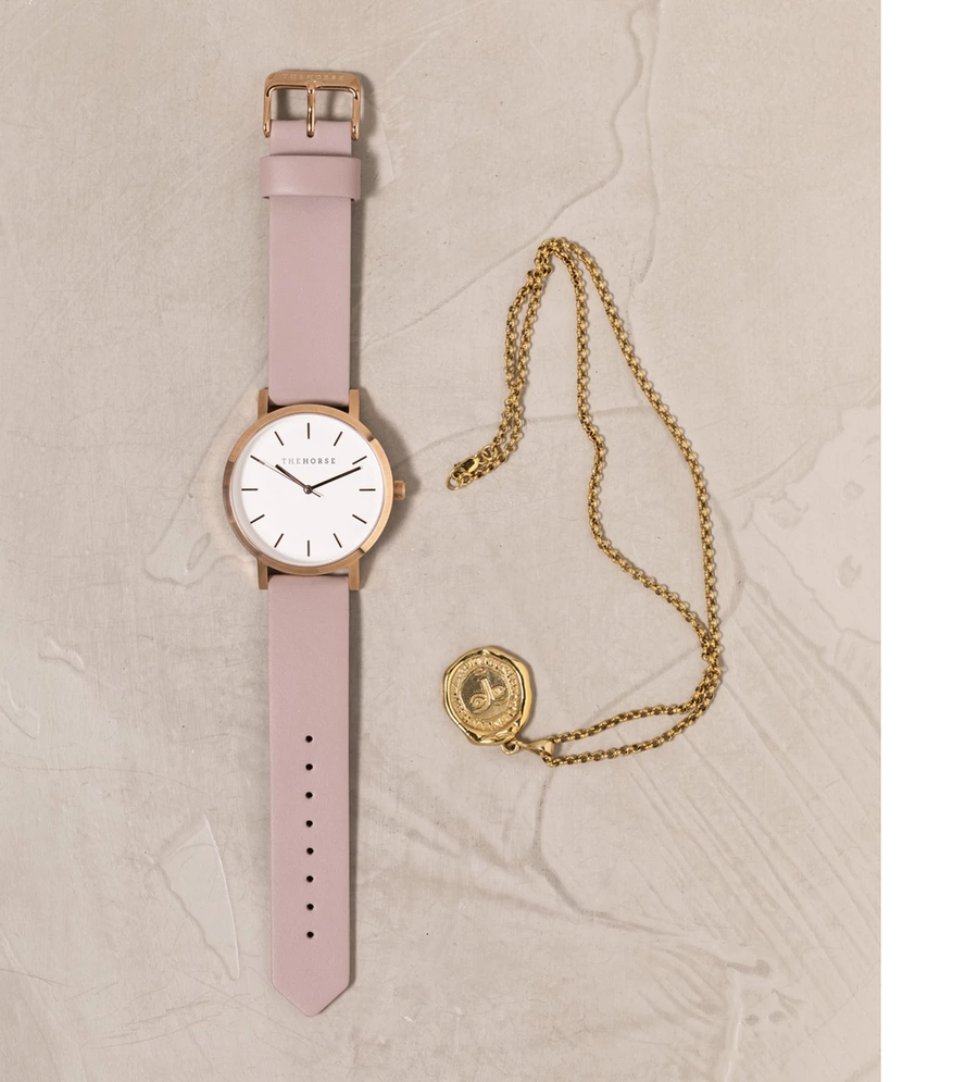 The Horse - The Original: Polished Rose Gold / Blush Leather