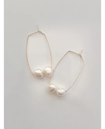 Pop Design - Fresh Water Pearl Earrings - Savannah