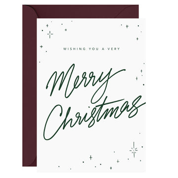 Galina Dixon - Wishing you a very Merry Christmas – Letterpress Card