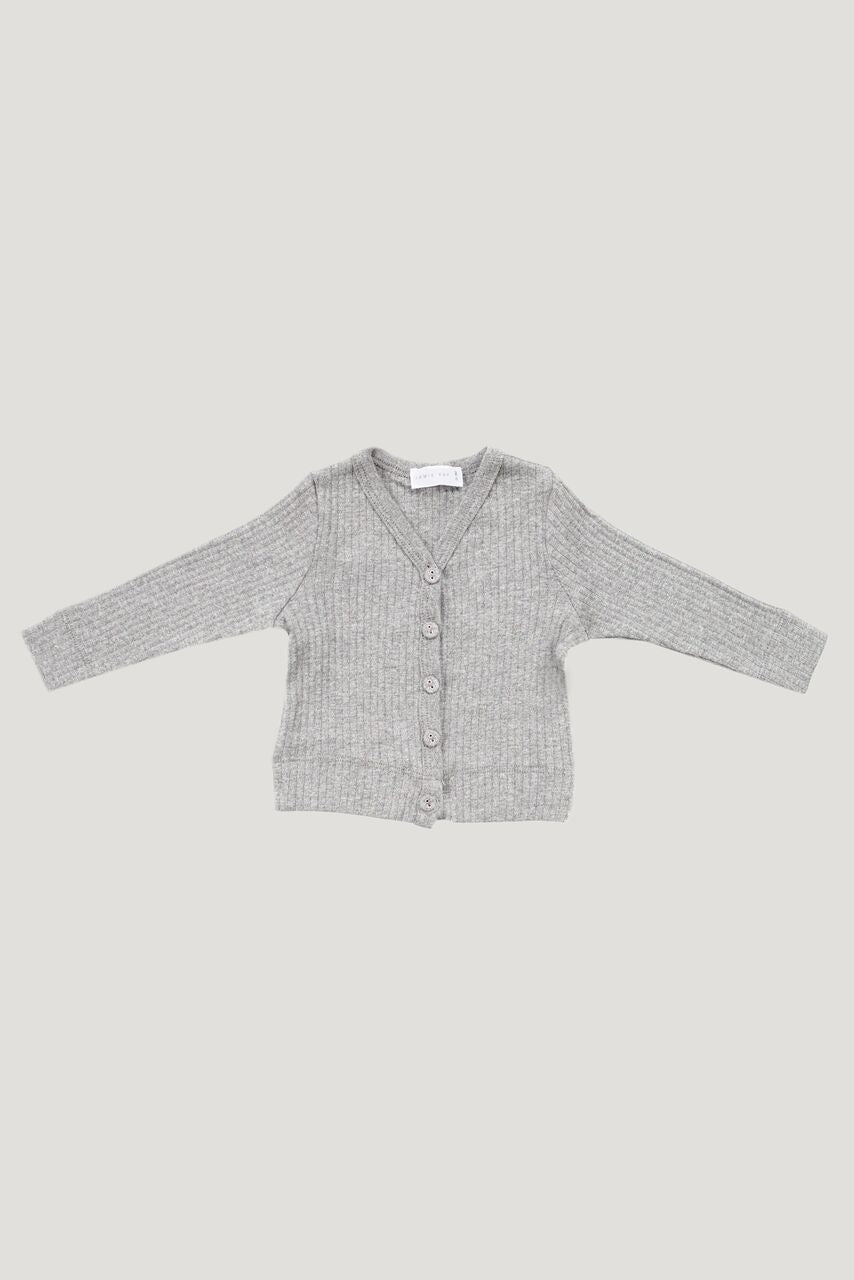 Jamie Kay - Cotton Modal Cardi - Light Grey Marle
