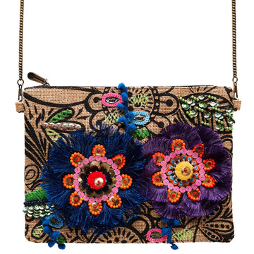 Canvas + Sasson - Bohemia Woodsfolk Clutch