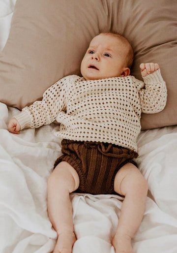 MIANN & CO BABY - OPEN KNIT JUMPER