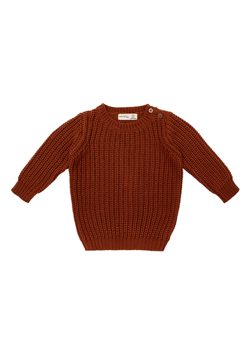 Miann & Co - Baby Jumper - Rust Rib Knit Jumper