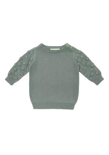 Miann & Co - Baby Jumper - Sage Dot Sleeve Jumper
