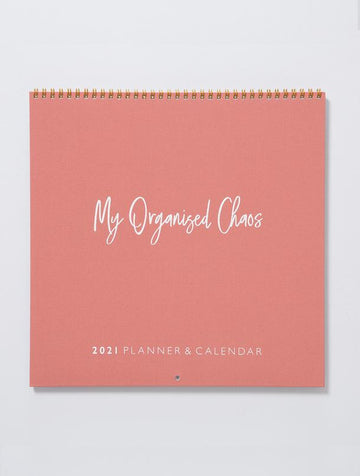 Write to Me - 2021 Linen Wall Planner & Calendar - Blush