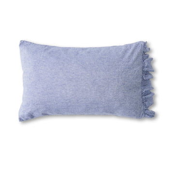 Society of Wanderers - Pillowcase Set with Ruffle - Chambray