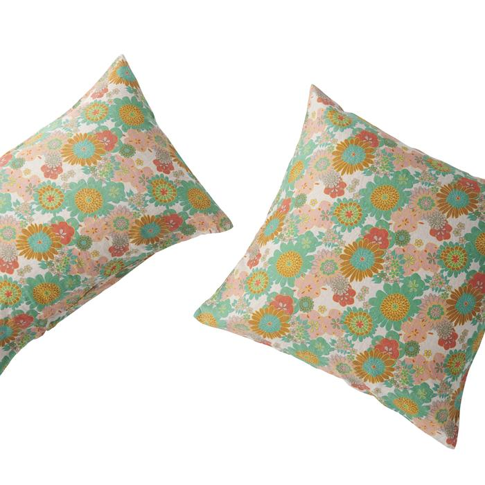 Society of Wanderers - Wanda Floral Pillowcase Set - Euro