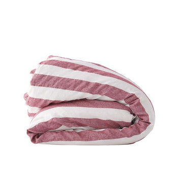 Society of Wanderers - Sangria Stripe Duvet Cover - Queen