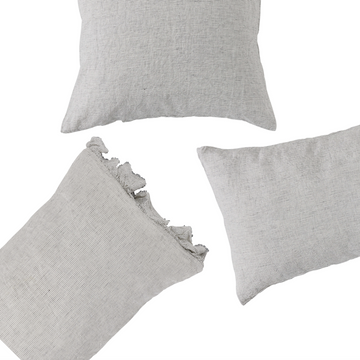 Society of Wanderers Pillowcase Set - Ruffle - Pinstripe