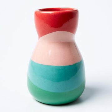 Jones & Co - Saturday Vase - Green Pink Splice