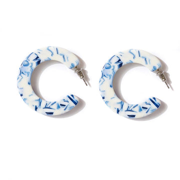 Emeldo - Hannah Hoops - Blue & White