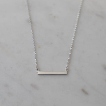 Sophie - Mini Bar Necklace - Silver